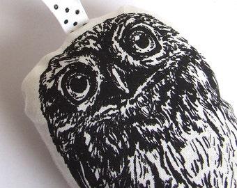 Sale Black Owl Lavender Bag, Little Owl Hanging decoration