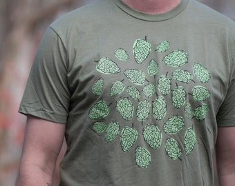 Hops Tshirt mens shirt beer lover
