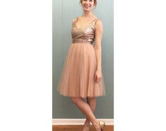 Sequin and Tulle Party Dress - LANEY