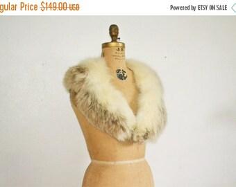 SALE- Vintage Fox Fur Collar scarf Two tones fur shawl wedding fur stole