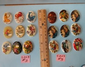 Clearance Choose your Vintage 40x30mm Cameo 9 pcs. S 203
