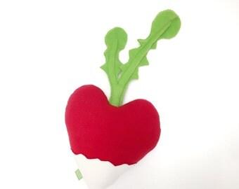 Radish Heart Valentine - Plush Toy Candy Alternative - Gifts for Kids