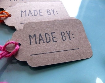 Crafter's Tags, Shop Tags, Made By Tags, Price Tags, Merchandise Tags, Handmade Tags