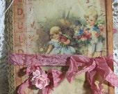 Bingo Roses Junk Journal Handmade Book Diary Keepsake