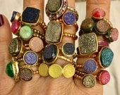 I LOVE THESE BABIES Sale!!! Dara Ettinger Mystery Druzy Stackable Rings Biggest Sale Ever
