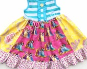 Disney Princess dress Belle Cinderella Rapunzel Momi boutique custom dress