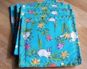 Easter bunny coaster set of 6
