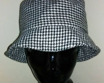 Vintage Women's Black & White Bucket Hat Summer Hat Blossom Style 90s notostgi 90s Throwback Pastel Goth Trendy Hats One Size Free Shipping