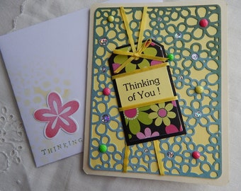 Handmade Mother's Day Card: mother, friend, family, flowers, greeting card,complete card, handmade, balsampondsdesign