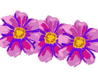 Passion Flower Trio Machine Embroidery Design by Letzrock  3101