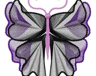 Butterfly  Machine Embroidery Design by Letzrock  3123