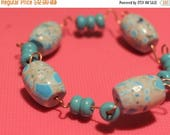 SPRING CLEARANCE SALE Turquoise and Copper Bracelet