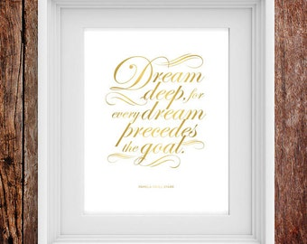 Dream Deep - Inspirational Typographic Print
