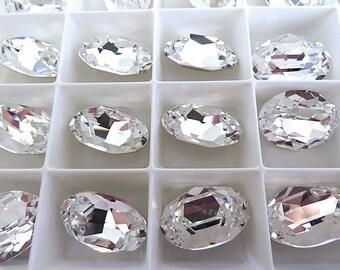 1 Clear Crystal Swarovski Crystal Stone Oval 4120 18mm x 13mm