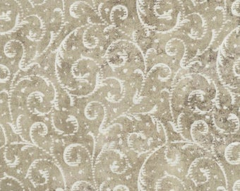 Shadow Chic -Scroll - Natural -Timeless Treasures -Quilt Fabric -By the yard- By the half yard -by Michele D'Amore.