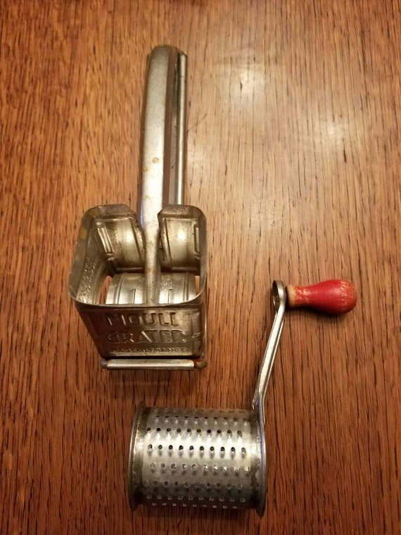 Vintage Crank Cheese Grater : Vintage metal crank mouli cheese grater france red handle