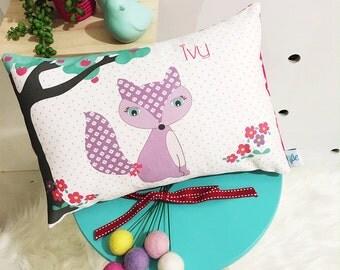 Girls Fox Personalised Cushion