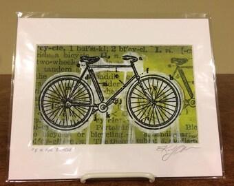 B is for Bicycle bike drips street art gel transfer