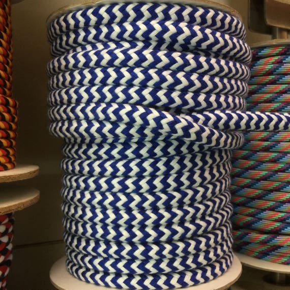 Nautical Rope Decor Items: Nautical Theme 10mm White And Blue Braided Rope, Beach