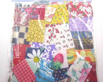 Huge Bag of Assorted Fabric Scraps Pieces or Material Lot G
