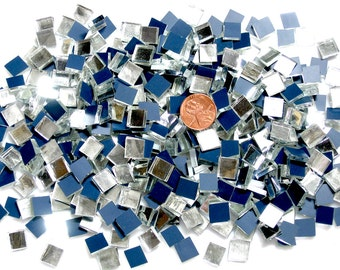 Quicksilver Mirror Mosaic Tile Squares Hand Cut From Spectrum Silvercoat Mirror in 5 Different Sizes Choose From Mini Tiles up to 1 inch