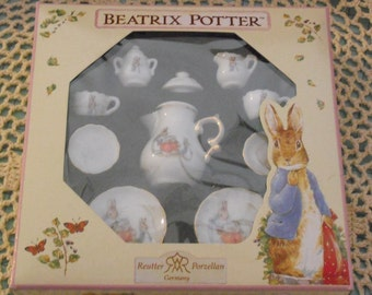 Miniature Peter Rabbit Tea Set