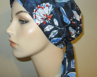 Carnations  Chemo Scarf, Hat, Cancer Hat, Hijab, Alopecia