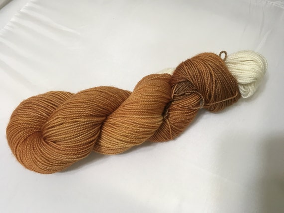 Lonely Fox - Dyed to Order - Hand Dyed - Merino Wool Yarn - Fingering Weight