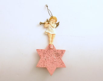Vintage Christmas Ornament Orchestra Angel Ornament Star Flute Germany