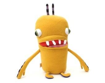 "Monster Plush Stuffed ""Henry"" Toothy Pocket Cotton Monster"