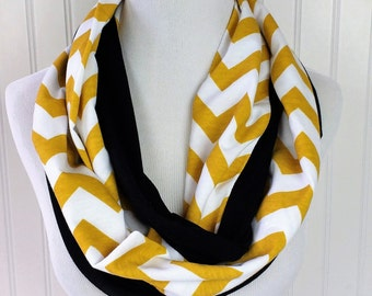 Steelers Scarf - Gold and Black Infinity Scarf - Pittsburgh Steelers Scarf - Superbowl Scarf - New Orleans Saints Scarf - Saints Scarf