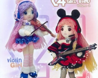 Crochet doll girl band vol 2 pattern - Thai book