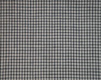 Blue And White Windowpane Plaid Material | Blue Windowpane Plaid Material |  Homespun Material | Homespun Plaid Material | 1 Yard
