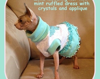 Sphynx Clothing  Diva Girl To order this Ruffled Comfy Cotton Knit Dress