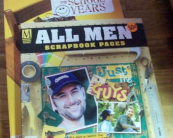 Memory Makers Books  All Men and  The School Years Scrapbook Page Ideas