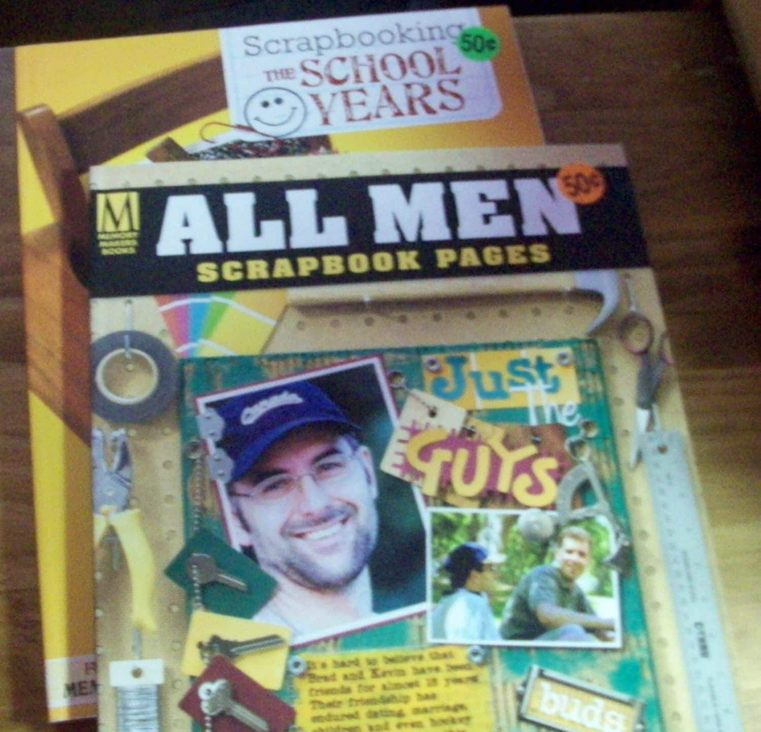 How to scrapbook school years - Memory Makers Books All Men And The School Years Scrapbook Page Ideas