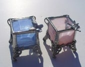 Tooth Fairy Box, Ring Box, Stained Glass Box, Lead-free, Your Choice of Color and Handle