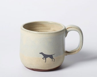 Rustic Mug with Black Dog