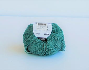 Ddolce Amore 1002, Filatura di Crosa, cotton, pale teal w. touch of golden olive, free ship USA option, C, destash new
