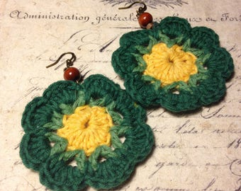Crochet Earrings - Daisy in the Sun