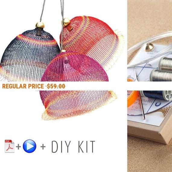 Holiday Sale - Pendant Light Kit - DIY Pendant light kits - Wire Crochet kit -  Home decor Ideas - Craft Kit - Home Gifts Kit - Housewarm...