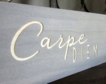 "Carpe Diem Home Decor | Motivational Home Decoration | Latin ""Seize the Day"" 