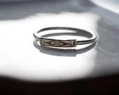 CUSTOM LISTING // 14k yellow gold floral and silver band