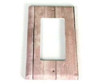 Rocker Switchplate  Light Switch Cover  Switch Plate in Pink Barnwood  (283R)