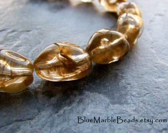 Nugget Bead, Vintage Beads, Lucite Beads, Baroque Beads, Boho Beads, Boho Chic, Jewelry Supplies, Chunky Bead, Gold Beads, Holiday Beads, 10