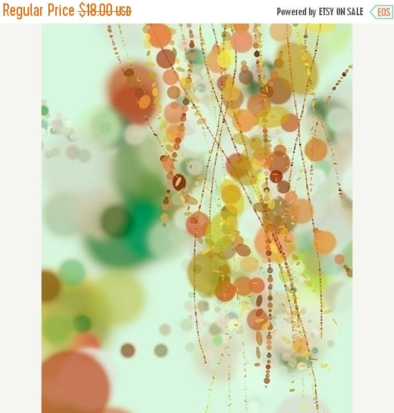 Mothers Day Sale Hanging Beads - 8x10 Print - Green Orange Light Blue