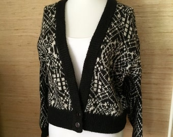 Vintage 1980s Slouchy Cardigan Sweater