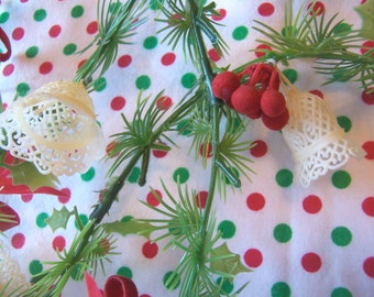 fun plastic white bells christmas garland