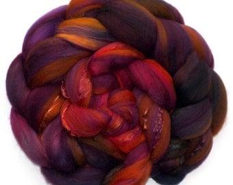 Superfine Merino Mulberry Silk Rambouillet 60/20/20 Roving Custom Blend, Heart of the Matter