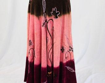 Vintage Velveteen Sequined Skirt by Anitsa, Paris